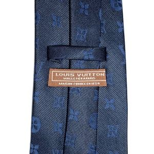 VTG Louis Vuitton Malletier A Paris Monogram Tie